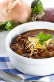 Chili in Bowl - Vertical stock photo
