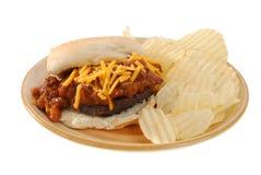 Chili burger Royalty Free Stock Photo