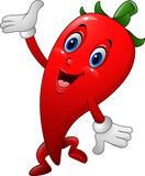 Chili Cartoon Character stock illustrationer