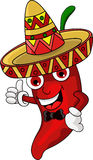Chili cartoon cute Royalty Free Stock Photo