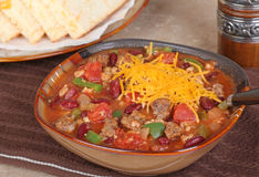 Chili With Cheese Royalty Free Stock Images