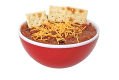 Chili with Cheese, Beans, and Crackers Royalty Free Stock Photo
