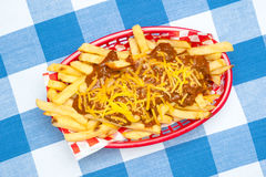Chili cheese fries Stock Image