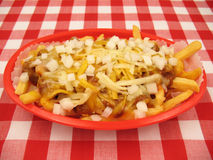 Chili Cheese Fries Stock Images