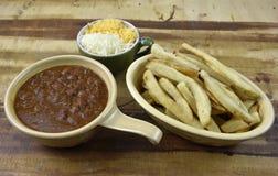 Chili Cheese Fries Meal Imagen de archivo libre de regalías