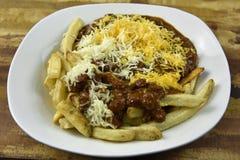 Chili Cheese Fries Meal Imágenes de archivo libres de regalías