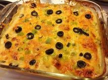 Chili Chicken Enchiladas vert Image libre de droits