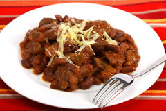 Chili con carne with beans Royalty Free Stock Photography