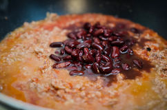 Chili con carne and beans Royalty Free Stock Image