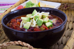 Chili con carne bowl Royalty Free Stock Image