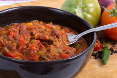 Chili con carne bowl Royalty Free Stock Images