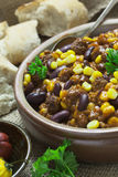 Chili con Carne in a Bowl Stock Images