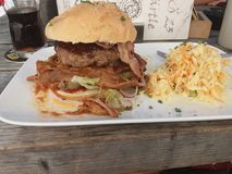 Chili con Carne Burger royalty free stock images