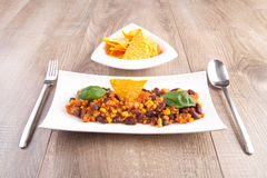 Chili con carne / Chili con soy Royalty Free Stock Photos