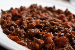 Chili con carne closeup Stock Photography