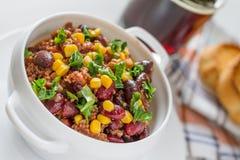 Chili con carne en ingrediënten Royalty-vrije Stock Afbeeldingen
