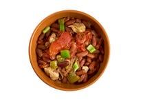 Chili con carne Korzenny Domowej roboty Fotografia Royalty Free
