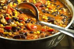 Chili con carne messicano Fotografie Stock