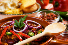 Chili con carne mexicain image stock