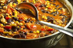 Chili con carne mexicain Photos stock