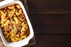 Chili con Carne and Pasta Casserole Royalty Free Stock Images