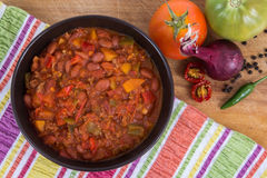 chili con carne puchar Fotografia Stock