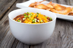 chili con carne puchar Zdjęcie Royalty Free