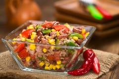 Chili Con Carne sałatka Fotografia Stock