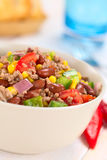 Chili Con Carne sałatka Obrazy Stock