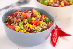 Chili con Carne Salad Royalty Free Stock Photos