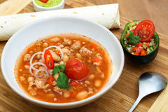 Chili con carne soup Royalty Free Stock Image