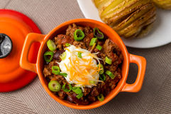 Chili con carne top view Royalty Free Stock Photo