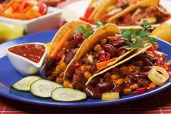 Chili con carne with tortilla chips Stock Image