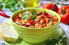 Chili con carne. Royalty Free Stock Photos