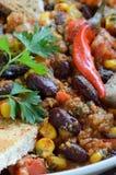 Chili con carne zakończenie up Obraz Royalty Free
