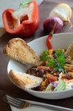 Chili con carne i świezi warzywa Obraz Royalty Free