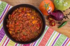 chili con carnekom stock fotografie