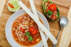 Chili con carnesoep Stock Afbeelding