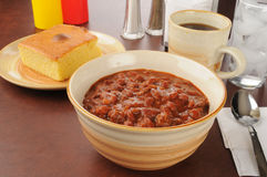 Chili and cornbread Stock Photos