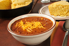 Chili and cornbread Stock Images