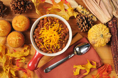 Chili and cornbread muffins Royalty Free Stock Image