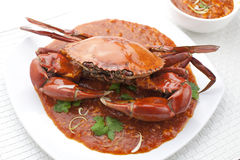 Chili Crab. An asian dish most popular in Malaysia and Singapore restaurants Royalty Free Stock Photography