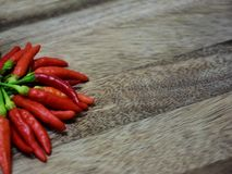 Chili on the cutting wood board. royalty free stock photo