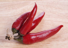 Chili czerwoni pieprze Zdjęcia Royalty Free