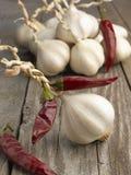 chili czosnku gorący pieprze czerwoni Obraz Royalty Free