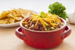 Chili Dinner épicé photo stock