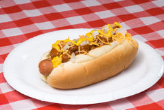Chili dog Stock Image