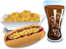 Chili dog dinner Royalty Free Stock Photography