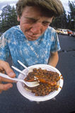 Chili dog lunch. Royalty Free Stock Image