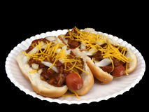 Chili Dogs #1 Royalty Free Stock Images